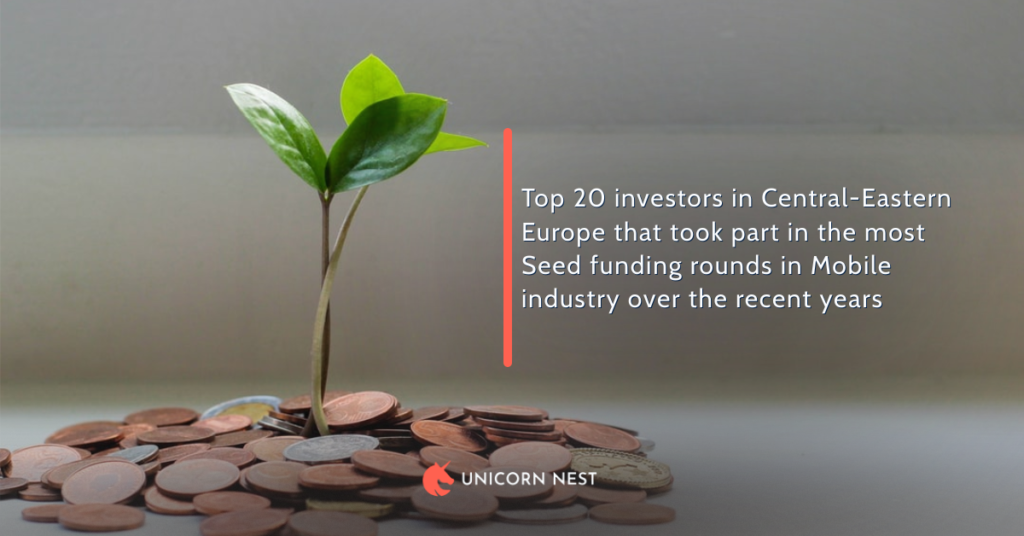 Top 20 investors in Central-Eastern Europe that took part in the most Seed funding rounds in Mobile industry over the recent years
