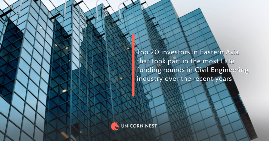 Top 20 investors in Eastern Asia that took part in the most Late funding rounds in Civil Engineering industry over the recent years