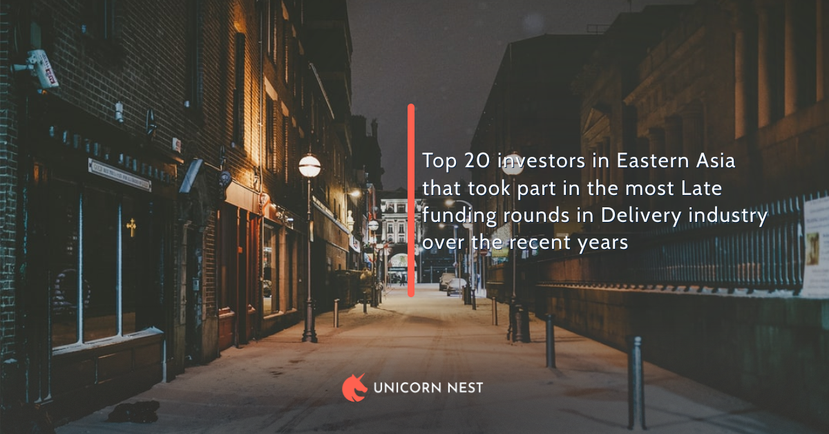 Top 20 investors in Eastern Asia that took part in the most Late funding rounds in Delivery industry over the recent years