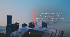 Top 20 investors in Eastern Asia with the biggest sum of Early funding rounds in Gaming industry over the recent years