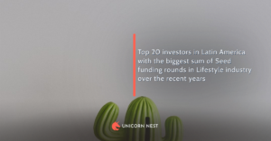 Top 20 investors in Latin America with the biggest sum of Seed funding rounds in Lifestyle industry over the recent years