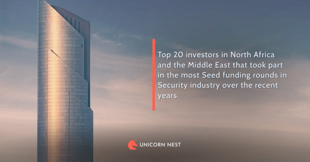 Top 20 investors in North Africa and the Middle East that took part in the most Seed funding rounds in Security industry over the recent years