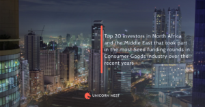 Top 20 investors in North Africa and the Middle East that took part in the most Seed funding rounds in Consumer Goods industry over the recent years