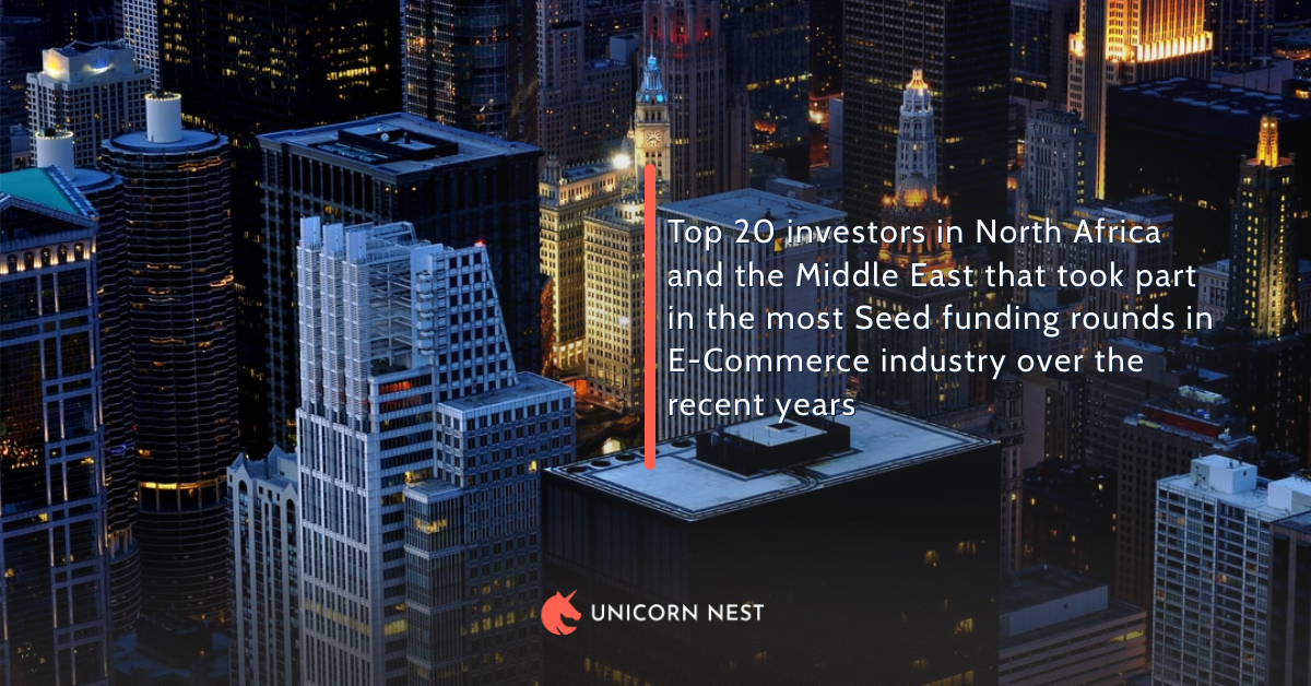 Top 20 investors in North Africa and the Middle East that took part in the most Seed funding rounds in E-Commerce industry over the recent years