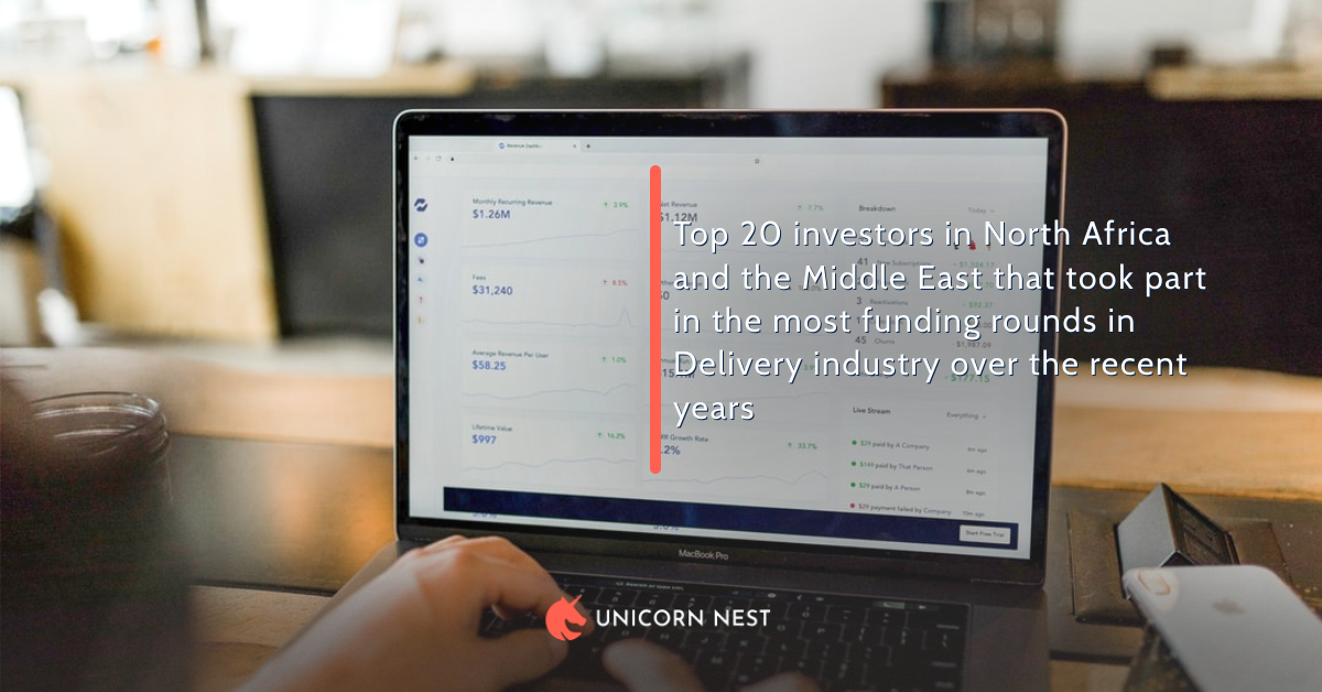 Top 20 investors in North Africa and the Middle East that took part in the most funding rounds in Delivery industry over the recent years