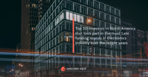 Top 20 investors in North America that took part in the most Late funding rounds in Electronics industry over the recent years