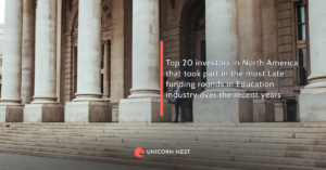 Top 20 investors in North America that took part in the most Late funding rounds in Education industry over the recent years