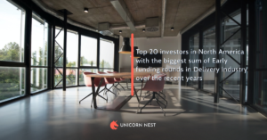 Top 20 investors in North America with the biggest sum of Early funding rounds in Delivery industry over the recent years