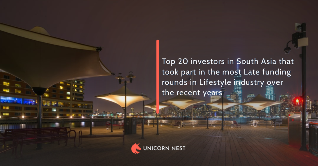 Top 20 investors in South Asia that took part in the most Late funding rounds in Lifestyle industry over the recent years