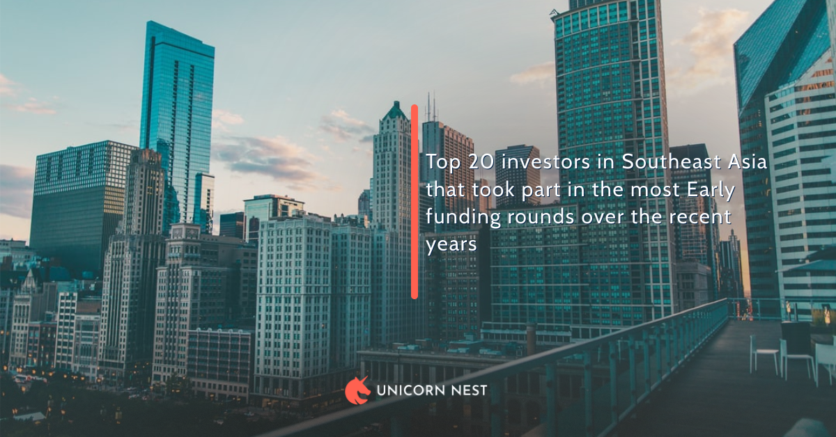 Top 20 investors in Southeast Asia that took part in the most Early funding rounds over the recent years