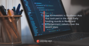 Top 20 investors in Southeast Asia that took part in the most Early funding rounds in Media and Entertainment industry over the recent years