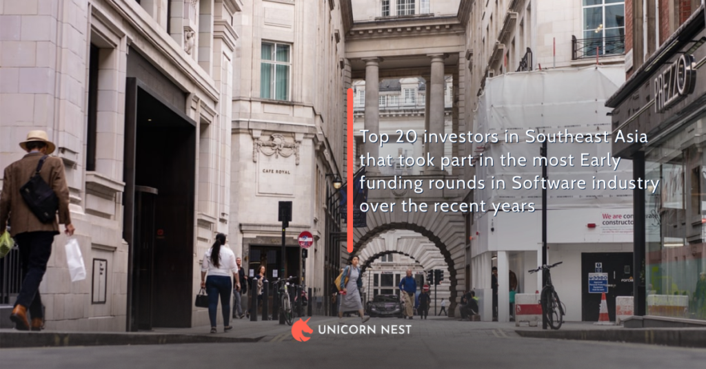 Top 20 investors in Southeast Asia that took part in the most Early funding rounds in Software industry over the recent years