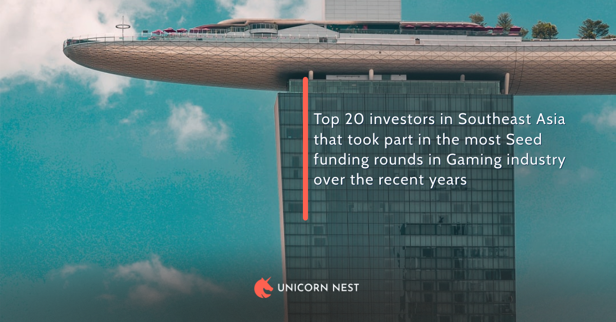 Top 20 investors in Southeast Asia that took part in the most Seed funding rounds in Gaming industry over the recent years
