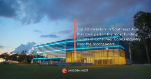 Top 20 investors in Southeast Asia that took part in the most funding rounds in Consumer Goods industry over the recent years