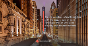 Top 20 investors in Southeast Asia with the biggest sum of Seed funding rounds in Enterprise industry over the recent years