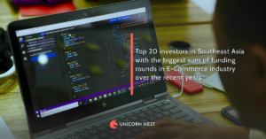 Top 20 investors in Southeast Asia with the biggest sum of funding rounds in E-Commerce industry over the recent years