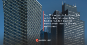 Top 20 investors in Southeast Asia with the biggest sum of Early funding rounds in Business Development industry over the recent years