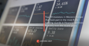Top 20 investors in Western Europe that took part in the most Early funding rounds in Financial Services industry over the recent years