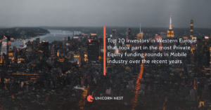 Top 20 investors in Western Europe that took part in the most Private Equity funding rounds in Mobile industry over the recent years
