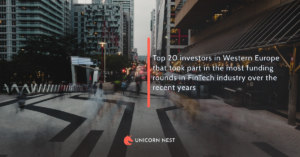 Top 20 investors in Western Europe that took part in the most funding rounds in FinTech industry over the recent years