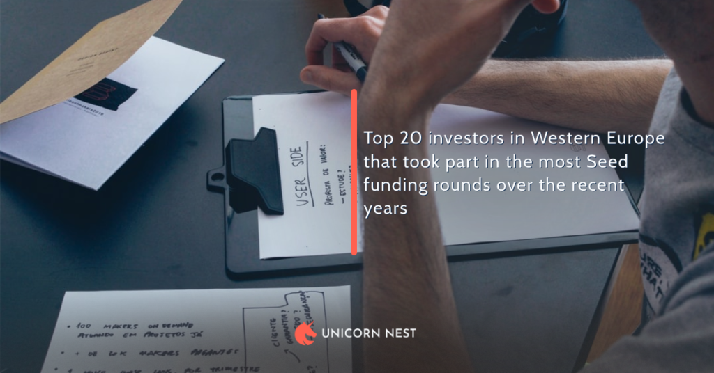 Top 20 investors in Western Europe that took part in the most Seed funding rounds over the recent years