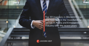Top 20 investors in Western Europe that took part in the most funding rounds in Media and Entertainment industry over the recent years