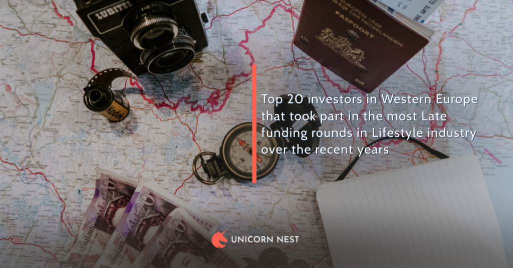 Top 20 investors in Western Europe that took part in the most Late funding rounds in Lifestyle industry over the recent years