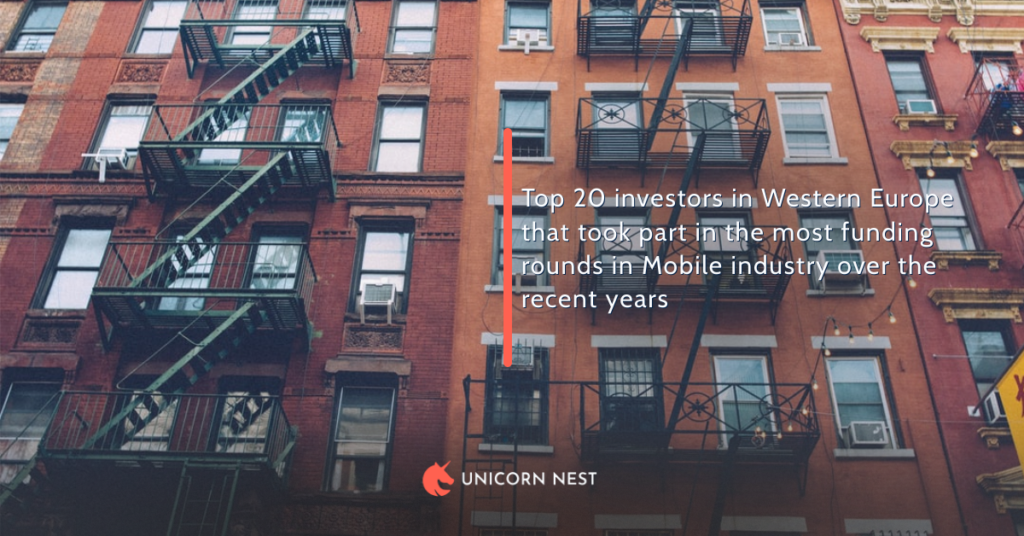 Top 20 investors in Western Europe that took part in the most funding rounds in Mobile industry over the recent years