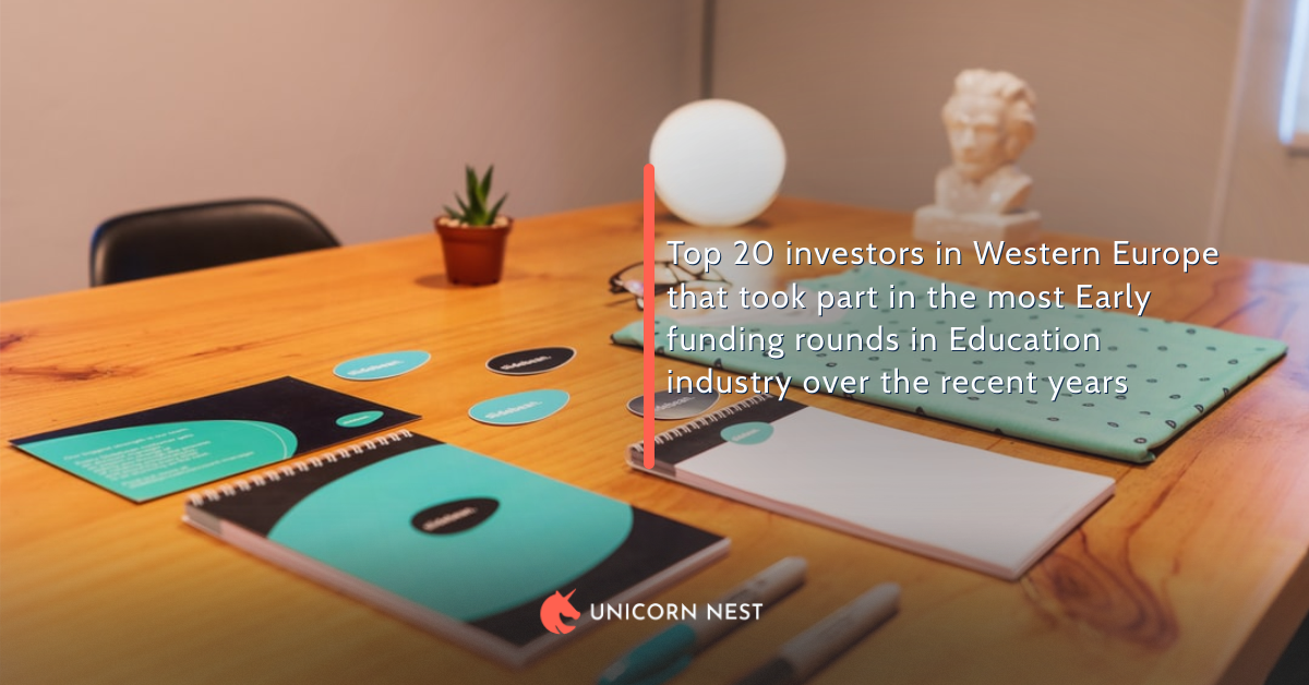 Top 20 investors in Western Europe that took part in the most Early funding rounds in Education industry over the recent years