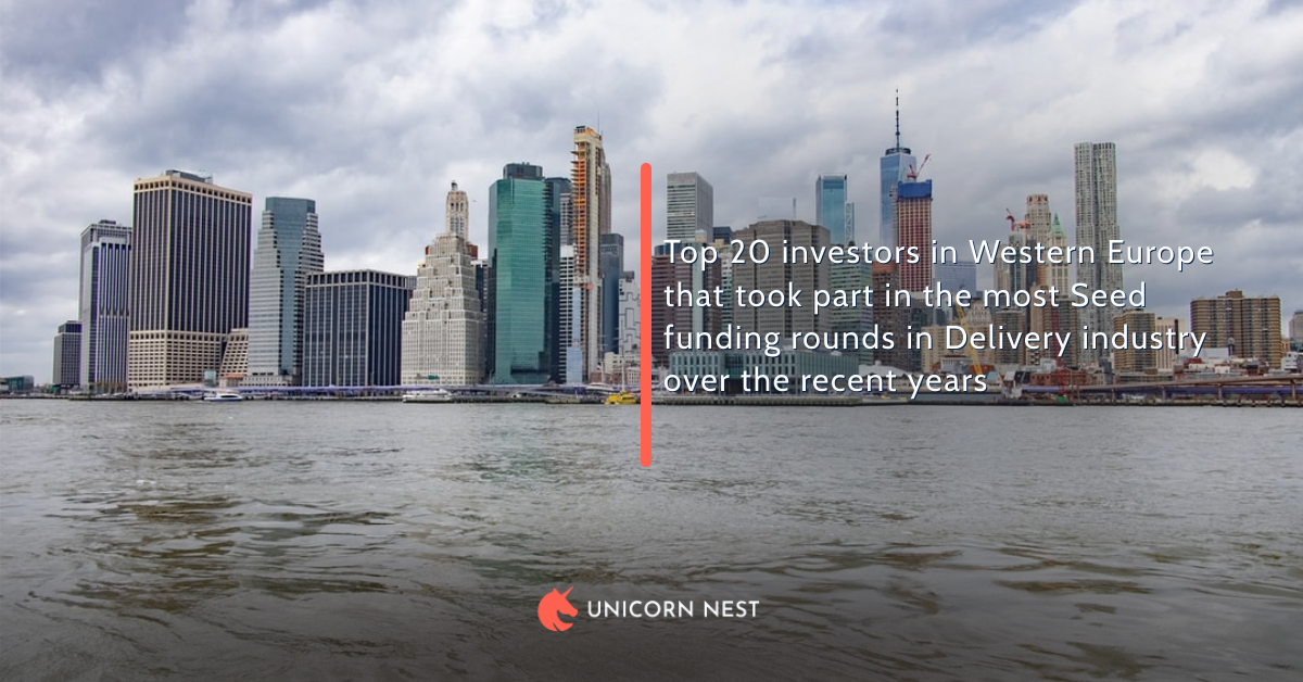 Top 20 investors in Western Europe that took part in the most Seed funding rounds in Delivery industry over the recent years