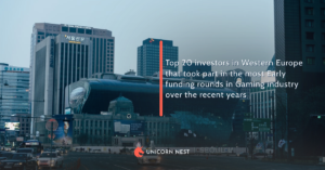 Top 20 investors in Western Europe that took part in the most Early funding rounds in Gaming industry over the recent years