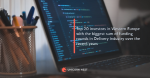 Top 20 investors in Western Europe with the biggest sum of funding rounds in Delivery industry over the recent years