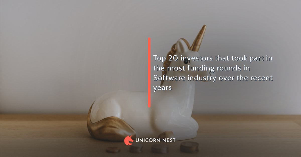 Top 20 investors that took part in the most funding rounds in Software industry over the recent years