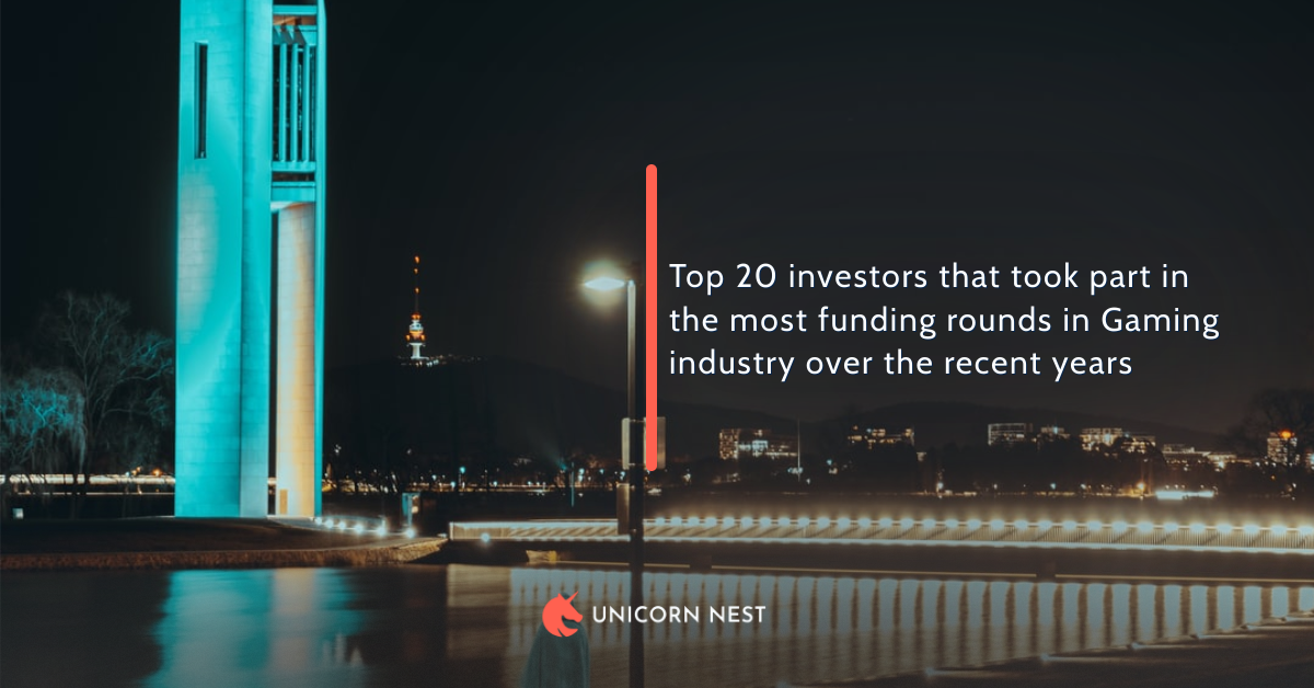 Top 20 investors that took part in the most funding rounds in Gaming industry over the recent years
