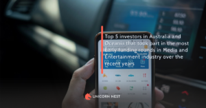 Top 5 investors in Australia and Oceania that took part in the most Early funding rounds in Media and Entertainment industry over the recent years