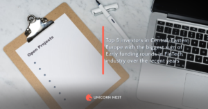 Top 5 investors in Central-Eastern Europe with the biggest sum of Early funding rounds in FinTech industry over the recent years