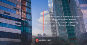 Top 5 investors in Western Europe with the biggest sum of Private Equity funding rounds in Gaming industry over the recent years