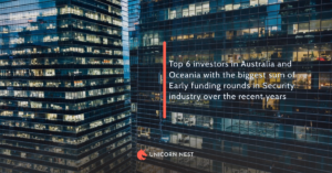 Top 6 investors in Australia and Oceania with the biggest sum of Early funding rounds in Security industry over the recent years