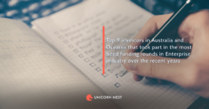 Top 9 investors in Australia and Oceania that took part in the most Seed funding rounds in Enterprise industry over the recent years