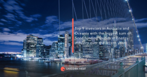 Top 9 investors in Australia and Oceania with the biggest sum of Seed funding rounds in Energy industry over the recent years
